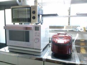 シェアハウスのキッチン家電